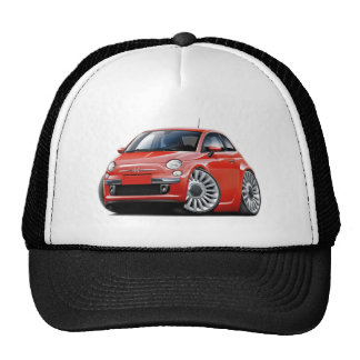 Fiat 500 Red Car Trucker Hat