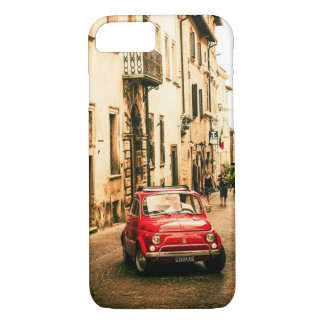 Fiat 500 Red in Italy, Tuscany iPhone 7 case, iPhone 8/7 Case