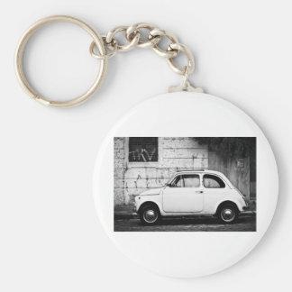 Fiat 500 Rome, Italy Keychain