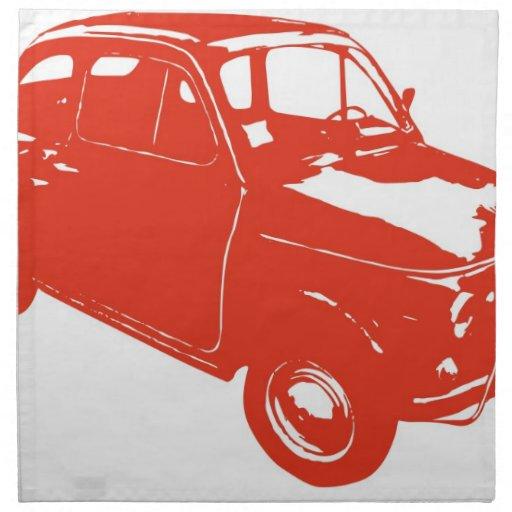 Fiat 500 servilleta