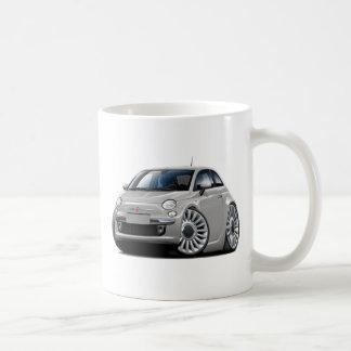 Fiat 500 Silver Car Classic White Coffee Mug