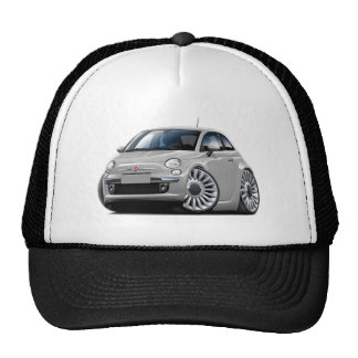 Fiat 500 Silver Car Trucker Hat