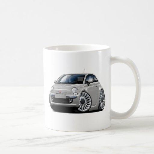 Fiat 500 Silver Car Mugs