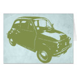 Fiat 500 tarjeta de felicitación