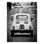 Fiat 500, vintage cinquecento, Rome Italy Poster