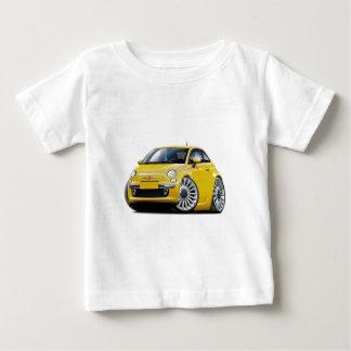 Fiat 500 Yellow Car Baby T-Shirt