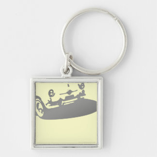 Fiat 600 Detail - Gray on light Key Chains