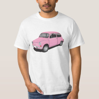 Fiat 600 (Seicento) pink t-shirt