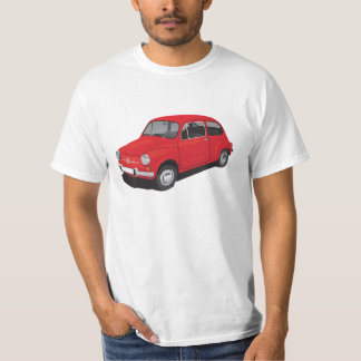 Fiat 600 (Seicento) red t-shirt