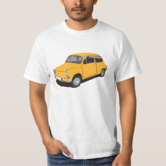 Fiat 600 (Seicento) yellow t-shirt
