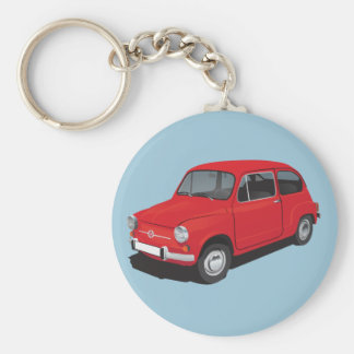 Fiat 600D red Keychain