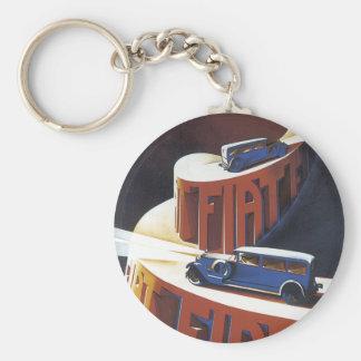 Fiat Basic Round Button Keychain