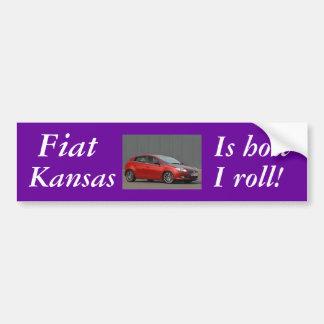 Fiat_Bravo_Side_View, Fiat, Kansas, Is how, I r... Bumper Sticker