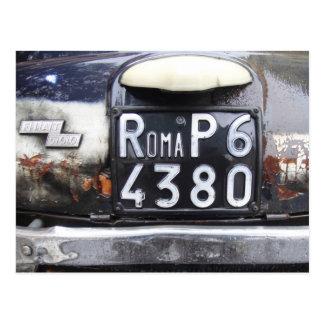 Fiat Cinquecento Postcard