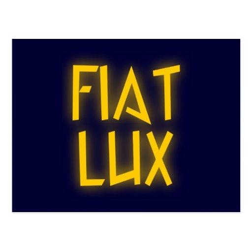 Fiat lux postcard