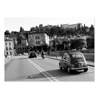 Fiat retro 500 en Florencia Tarjetas De Visita Grandes