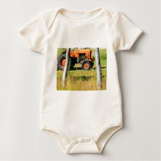 FIAT TRACTOR RURAL QUEENSLAND AUSTRALIA BABY BODYSUIT