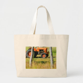 FIAT TRACTOR RURAL QUEENSLAND AUSTRALIA LARGE TOTE BAG