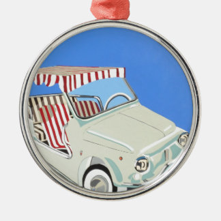 fiat with canape metal ornament