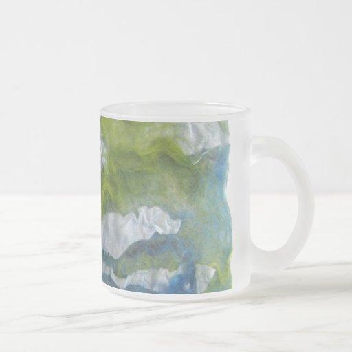 Fiber Art Frosted Glass Coffee Mug
