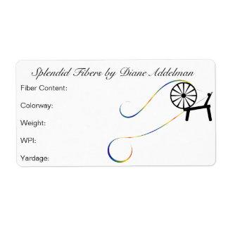 Fiber Arts Yarn ID Label Design Shipping Label