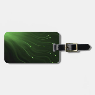 Fiber optic abstract. bag tag