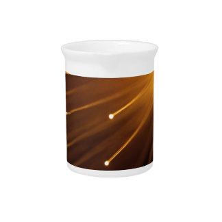 Fiber optic abstract. beverage pitcher
