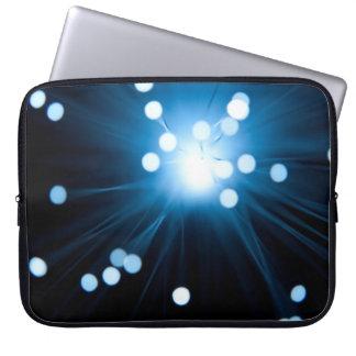 Fiber optic abstract. computer sleeve