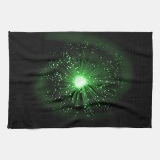 Fiber optic abstract. hand towel