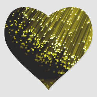 Fiber optic abstract. heart sticker