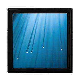 Fiber optic abstract. jewelry box