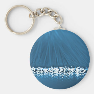 Fiber optic abstract. keychain