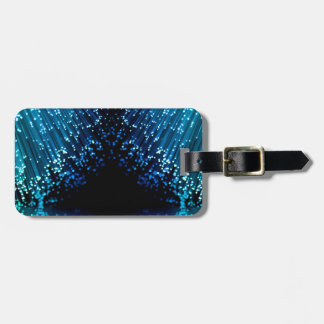 Fiber optic abstract. luggage tag