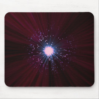 Fiber optic abstract. mouse pad