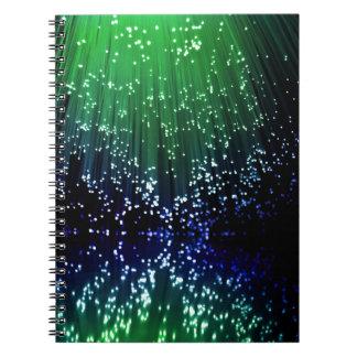 Fiber optic abstract. notebook