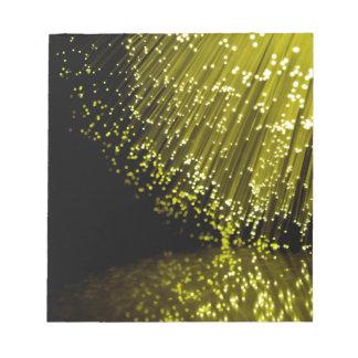 Fiber optic abstract. notepad