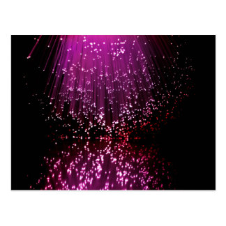 Fiber optic abstract. postcard