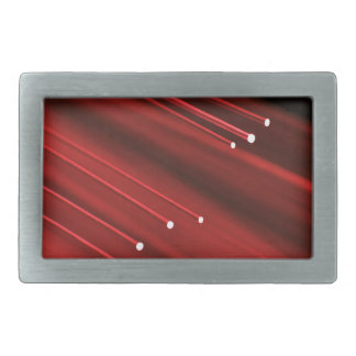 Fiber optic abstract. rectangular belt buckle