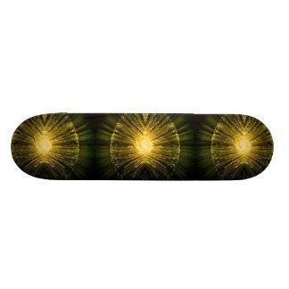 Fiber optic abstract. skateboard deck