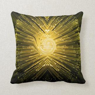 Fiber optic abstract. throw pillow
