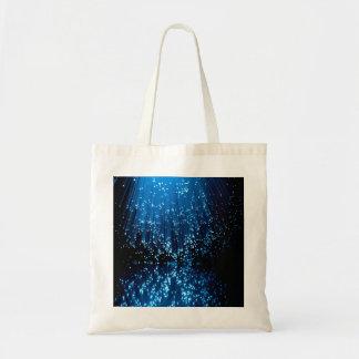 Fiber optic abstract. tote bag