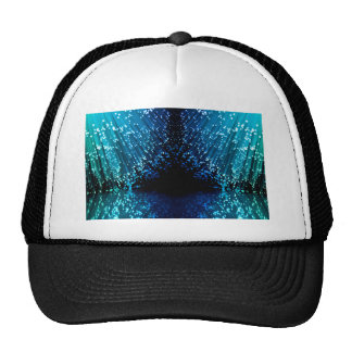 Fiber optic abstract. trucker hat