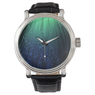Fiber optic abstract. wrist watches
