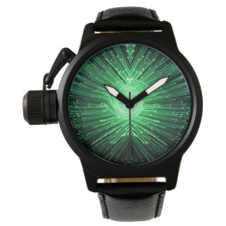 Fiber optic abstract. wristwatches