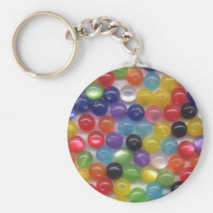 Fiber Optic Beads Keychain