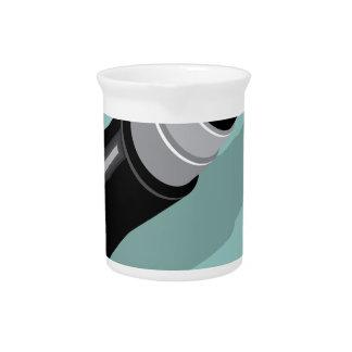 Fiber optic cable beverage pitchers