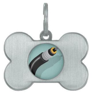 Fiber optic cable pet ID tag