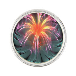 Fiber Optic Flower Lapel Pin