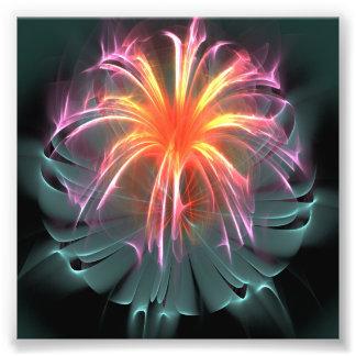 Fiber Optic Flower (square) Photograph