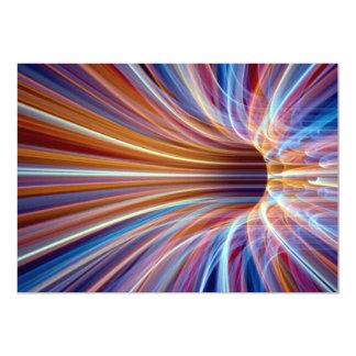 Fiber optic streak tunnel 5x7 paper invitation card